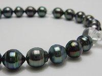 黒蝶念珠 9.0〜9.9 mm正絹房カスタマイズ  本水晶使用 高級桐箱付き