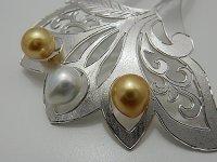 白蝶真珠 特選高級手彫り簪