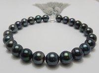 大珠 黒蝶念珠 11.0 〜 11.4 mm 正絹房カスタマイズ 本水晶使用 高級桐箱付き