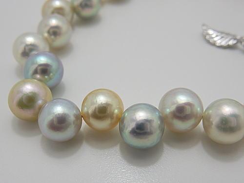 画像1: アコヤ真珠ナチュラルカラー 7.0〜7.5 mm  クレオパトラ ブレスレット