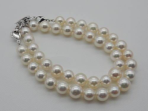画像1: アコヤ真珠 マルチユース 2連 ブレスレット