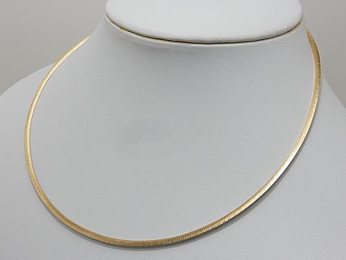 画像1: 艶消しサテン仕上げ 2.5 mm リバーシブル K18 / K18WG 日本製 オメガネックレス