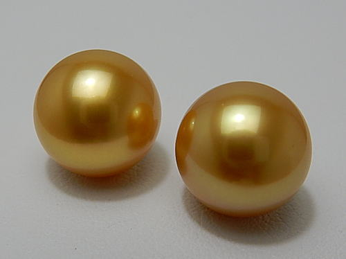 画像1: ROYAL MYANMAR GOLDEN 10.3 mm PAIR