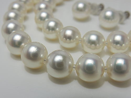 画像1: アコヤ無調色真珠 「花珠」 鑑別鑑定書付き2点SET