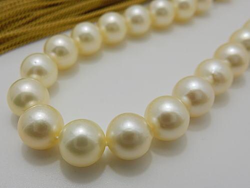 画像1: アコヤ真珠ナチュラルクリーム 本真珠念珠