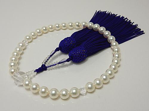 画像1: アコヤ無調色真珠7.0〜7.5 mm本真珠念珠
