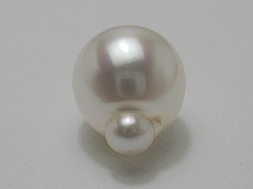 画像1: 白蝶デコポンパール 12.9×16.2 mm ホワイトピンク ルース