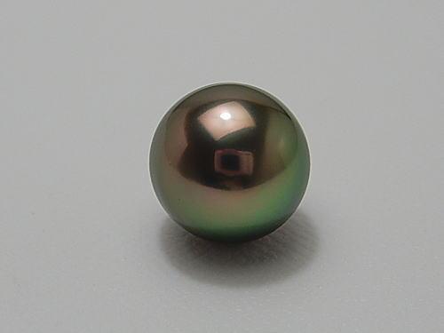 画像1: 黒蝶真珠リキテア産 ピーコックグリーン タイピン
